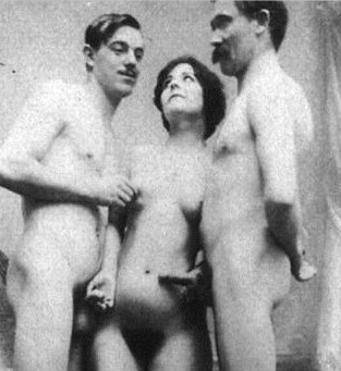 Lou Andreas-Salomé, Paul Ree and Friedrich Nietzsche in Jules Bonnet studio, Lucerne 1882